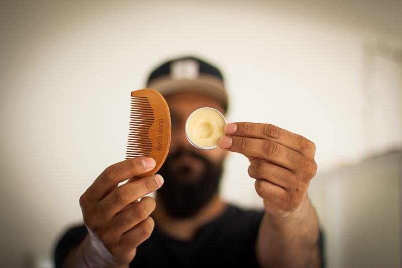 Use Beard Balm for that hold