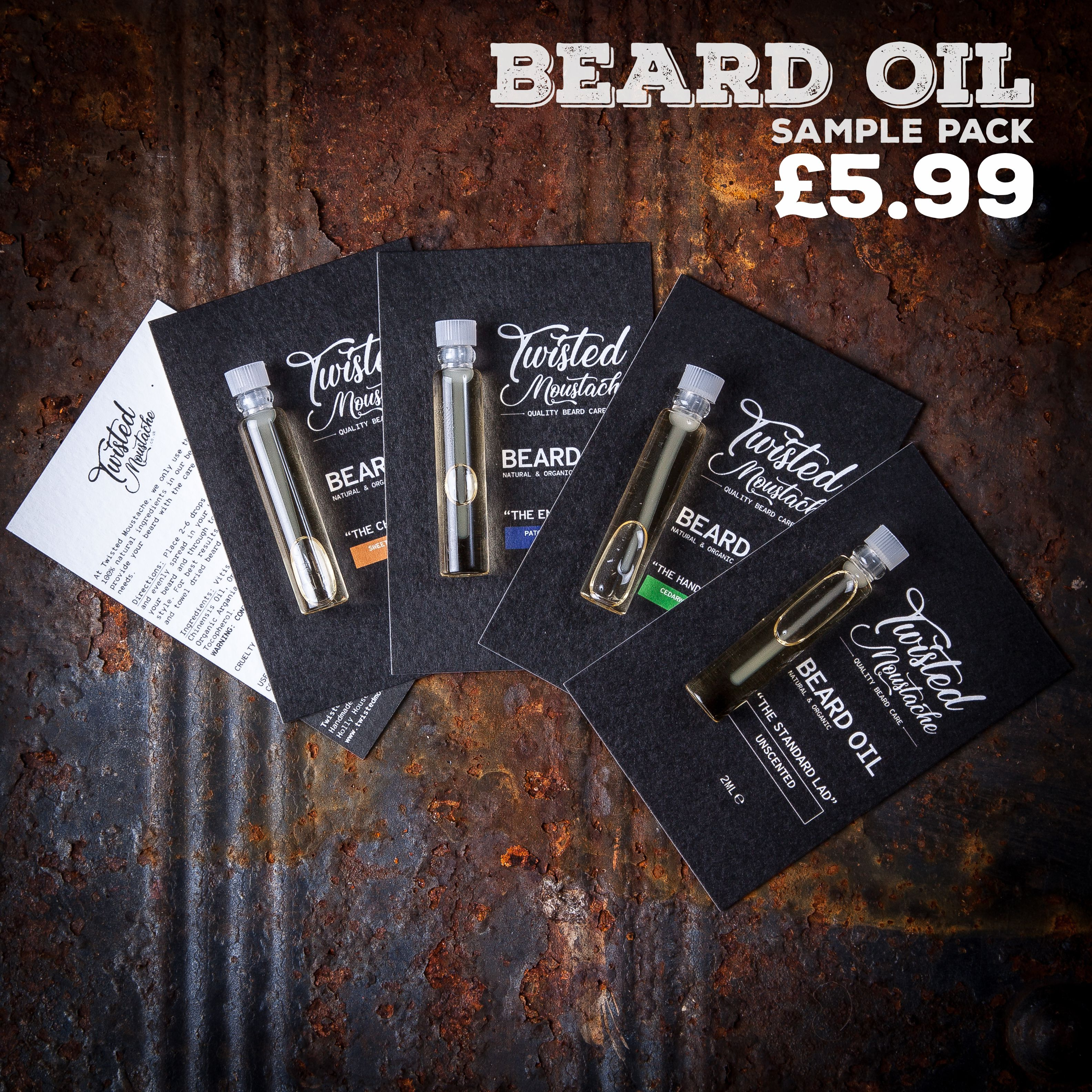 Sample Beard Oil Pack
