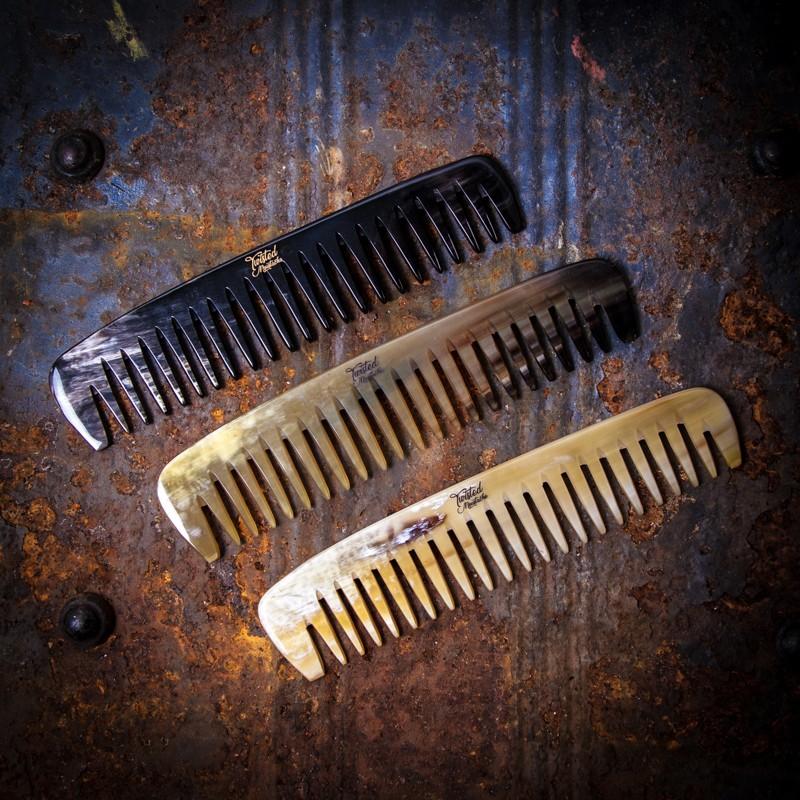 Ox Horn Wide Tooth Beard Comb