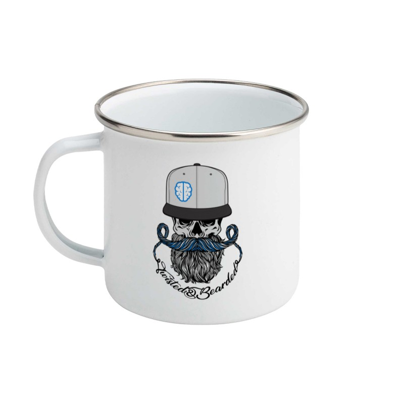 Twisted & Bearded Alzheimers Enamel Mug