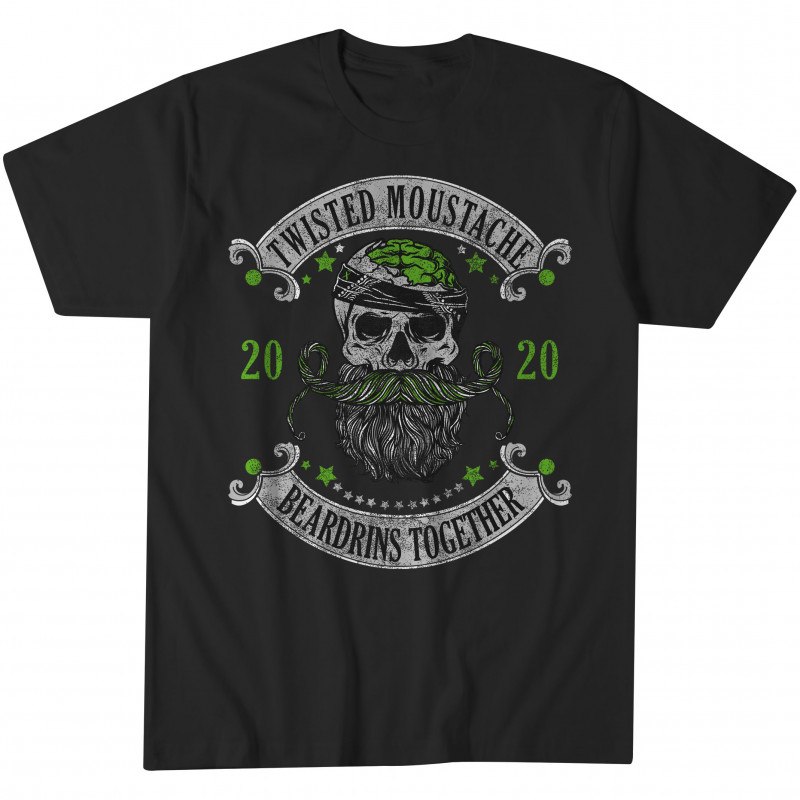 Beardrins Together Mental Health Edition Tee Black