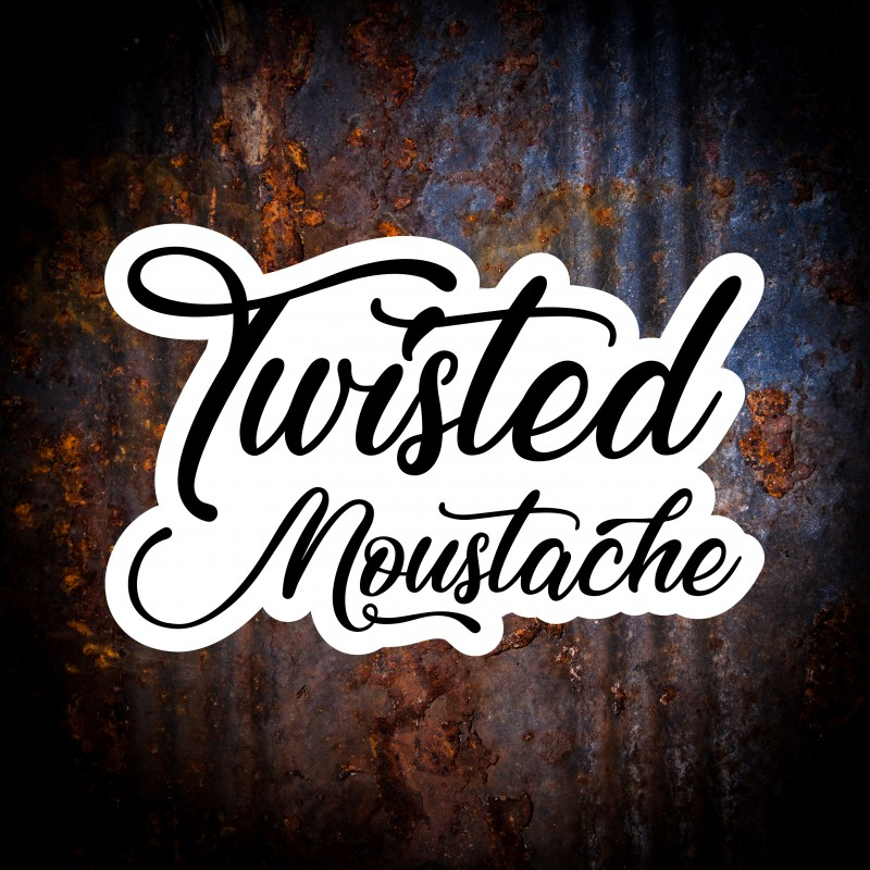 Twisted Moustache Logo Sticker