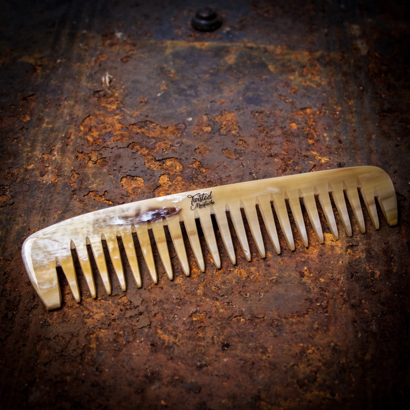 Ox Horn Wide Tooth Beard Comb