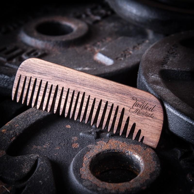 Twisted Moustache Signature Big Wooden Beard Comb