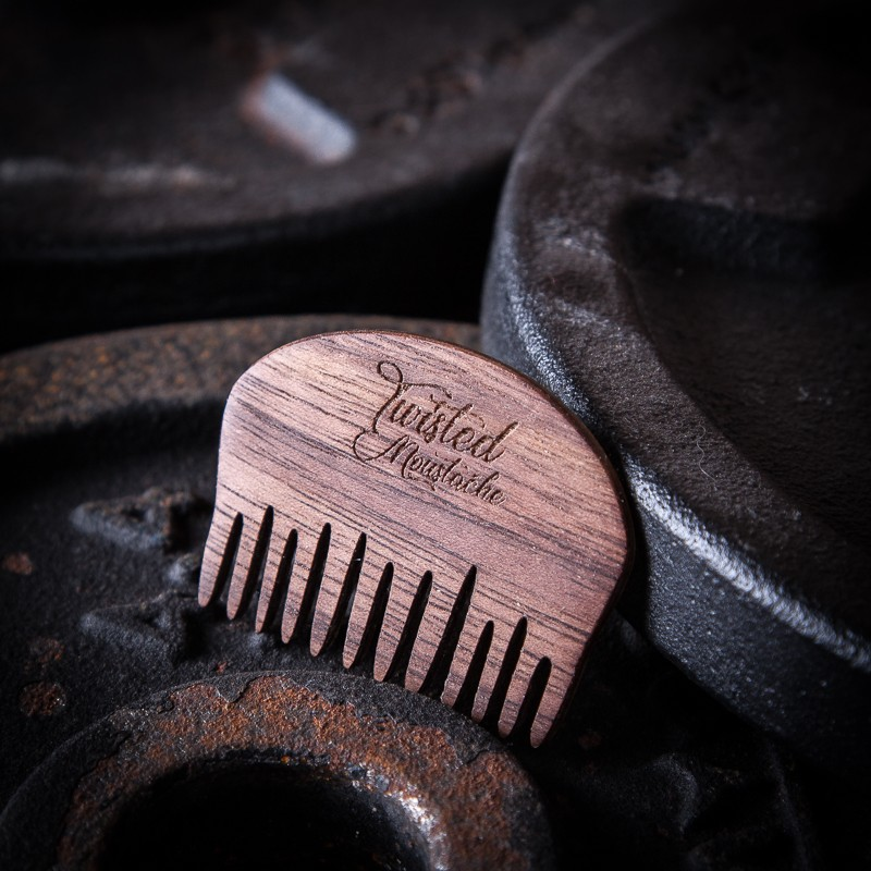 Twisted Moustache Signature Small Wooden Beard Comb