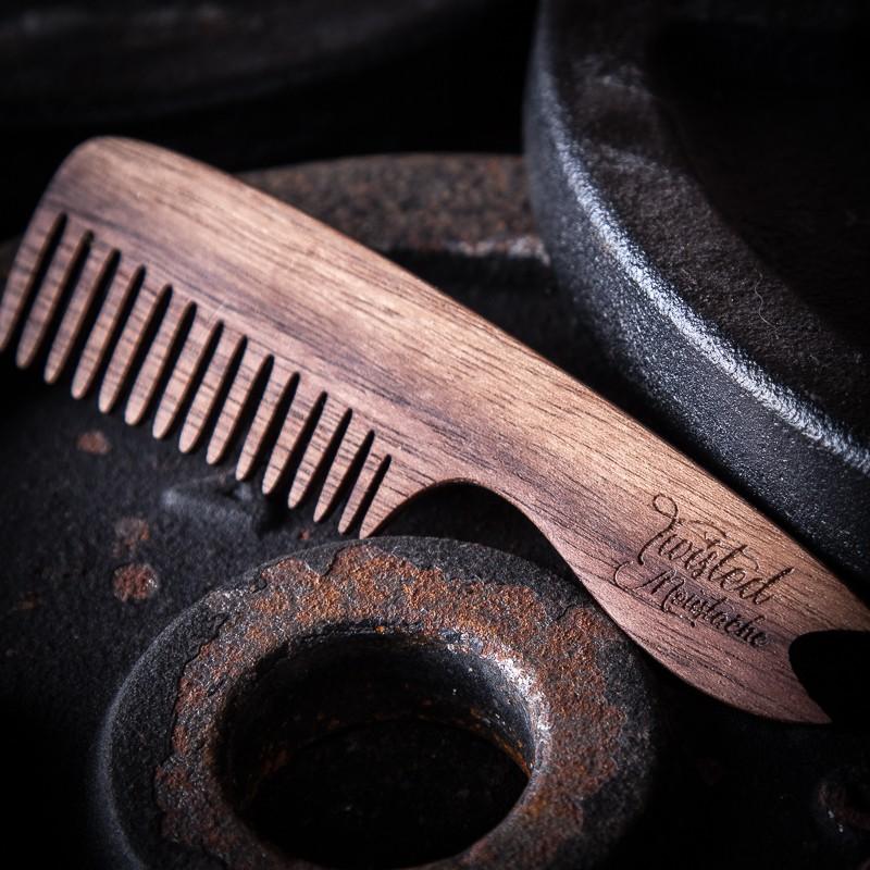 Twisted Moustache Signature Small Wooden Moustache Comb