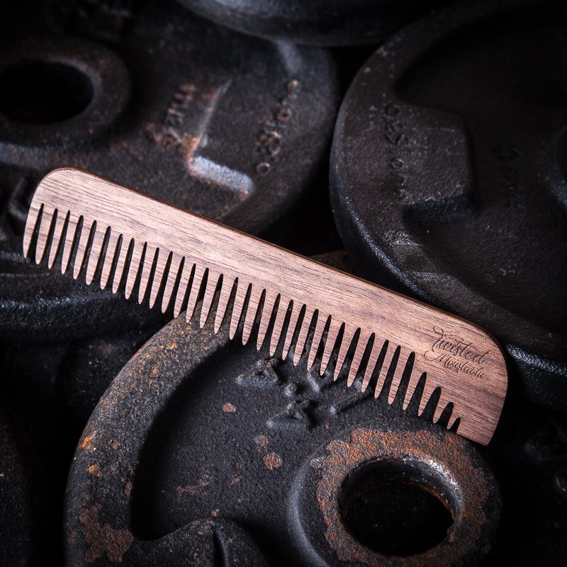 Twisted Moustache Signature Standard Wooden Comb