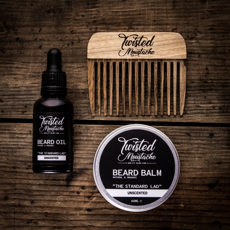 The Date Night Grooming Set - Beard Balm, Oil & Beard Pick
