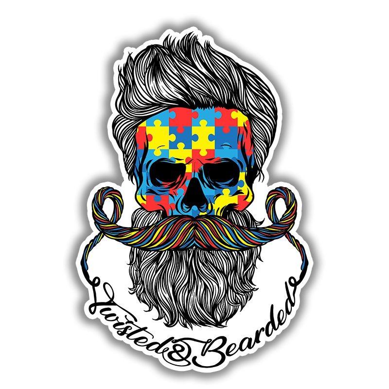 Diagram Twisted U0026 Bearded Autism Sticker