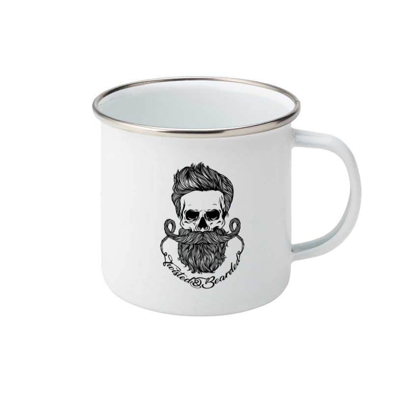 Twisted & Bearded Enamel Mug