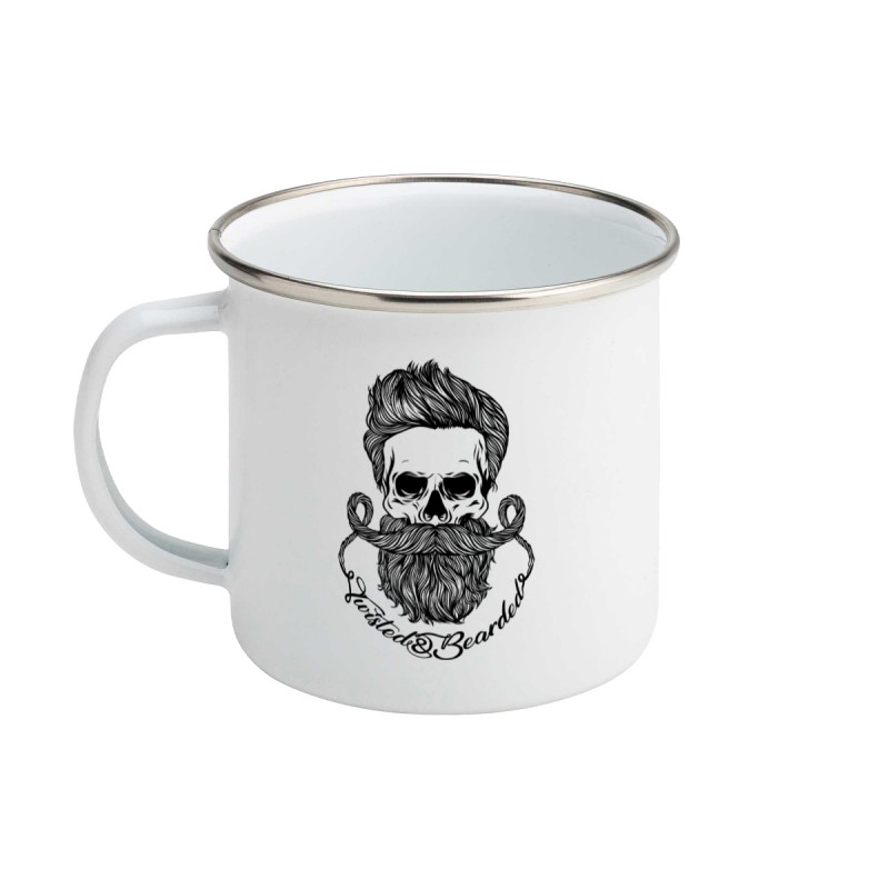 Twisted & Bearded Enamel Mug