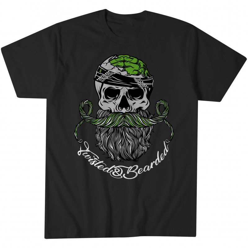 Twisted & Bearded Mental Health Edition Tee - Black