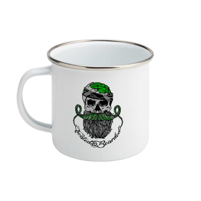 Twisted & Bearded Mental Health Enamel Mug