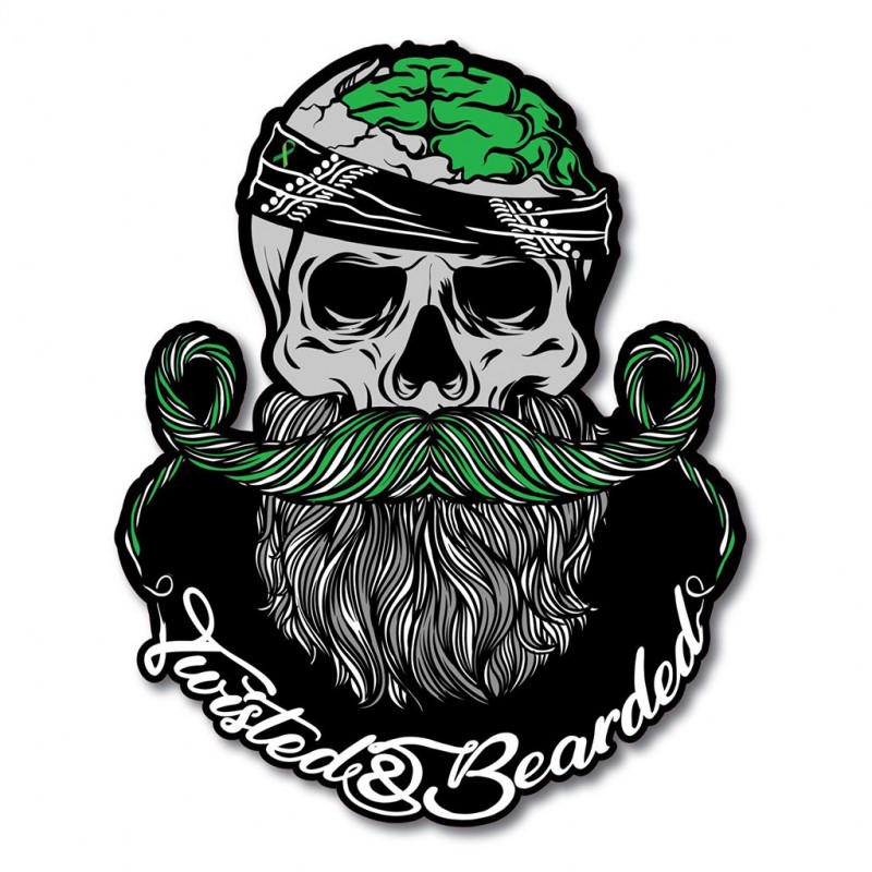 Twisted & Bearded Mental Health Logo Sticker