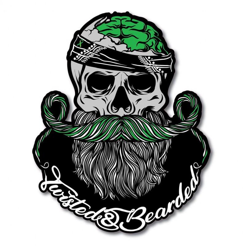 Twisted & Bearded Mental Health Logo Sticker