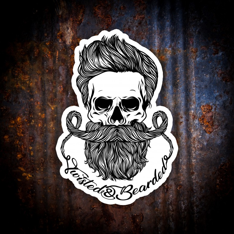 Twisted & Bearded Club Sticker