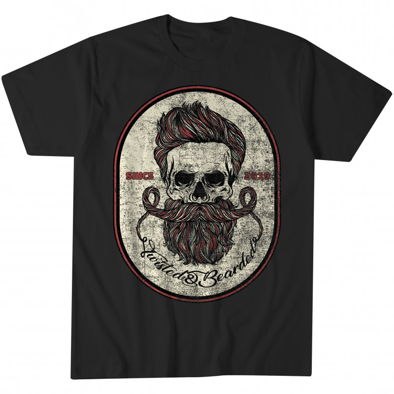 Twisted & Bearded Vintage Logo Tee