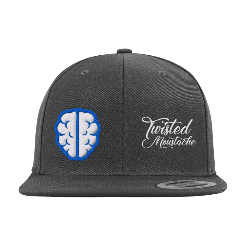 Twisted Moustache Alzheimers Snapback Cap