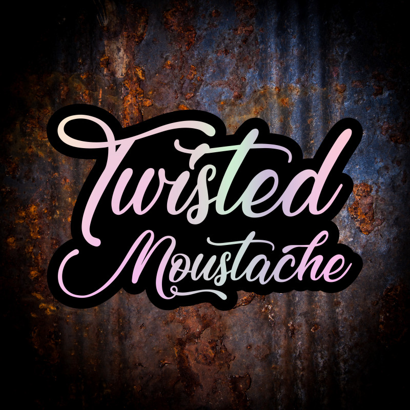 Twisted Moustache Sticker (Holographic)