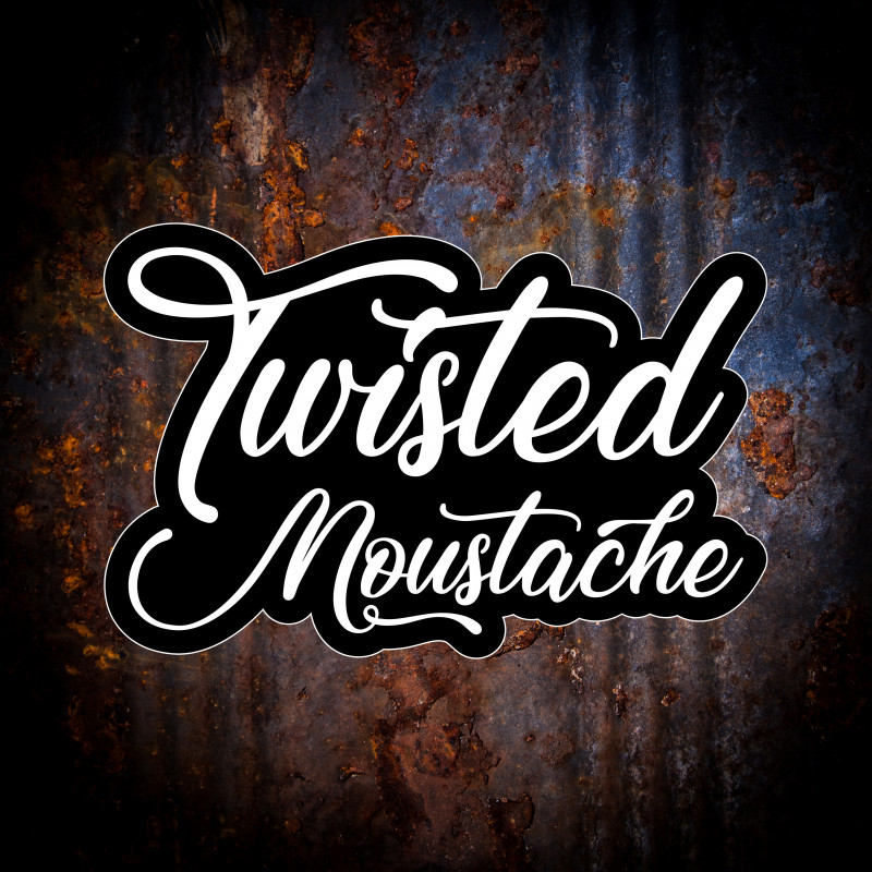 Twisted Moustache Large Logo Sticker