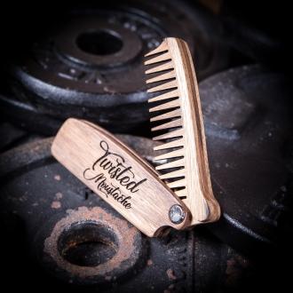 Wooden Folding Beard Comb
